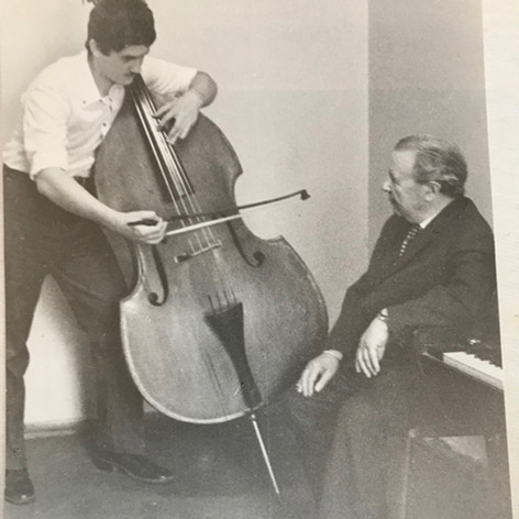 With my first Double Bass teacher, beloved Peter Weinblat. I think I am 17 at this picture.