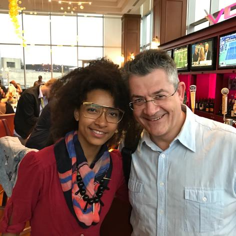 With amazing bassist and singer Esperanza Spalding