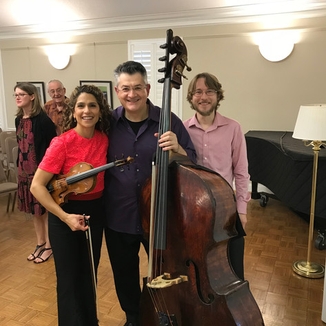 With Jackie Wolborsky and Sam Gold after the Concert of our Trio.