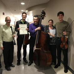 After performing the Prokofiev's Quintet at EMF.