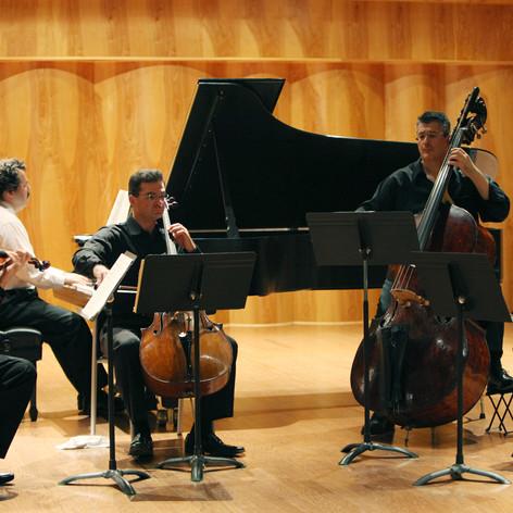 "Schubert's ""Trout"" Quintet at Southhampton Festival, with Dmitri Berlinsky, violin; Yoram Youngerman, viola; my brother Ilya Finkelshteyn, cello, and Michael Yanovitsky, piano."