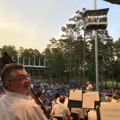 At our summer home, Koka Booth Amphitheatre in Cary, NC.