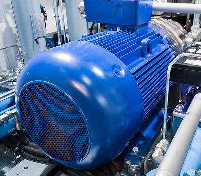 Electric motor of a powerful industrial