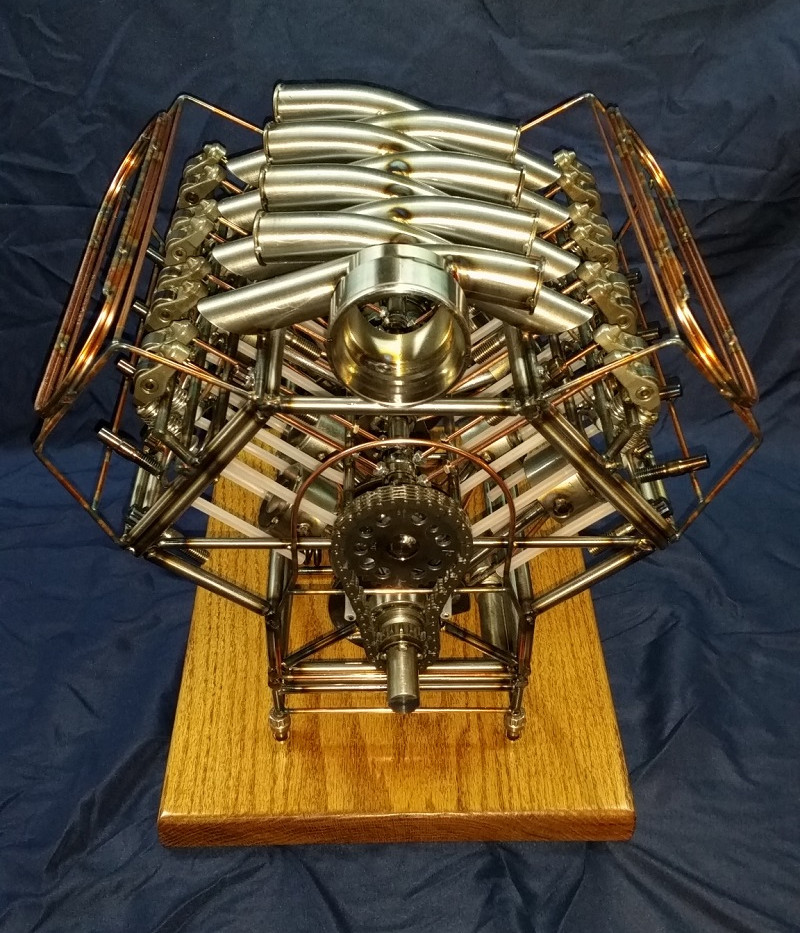 Wireframe LS7 engine model