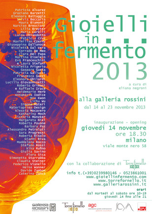 GIOIELLI IN FERMENTO 2013 - Premio Torre Fornello