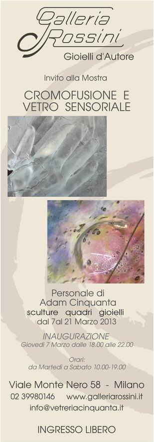 Adam Cinquanta: vetro sensoriale e cromofusione