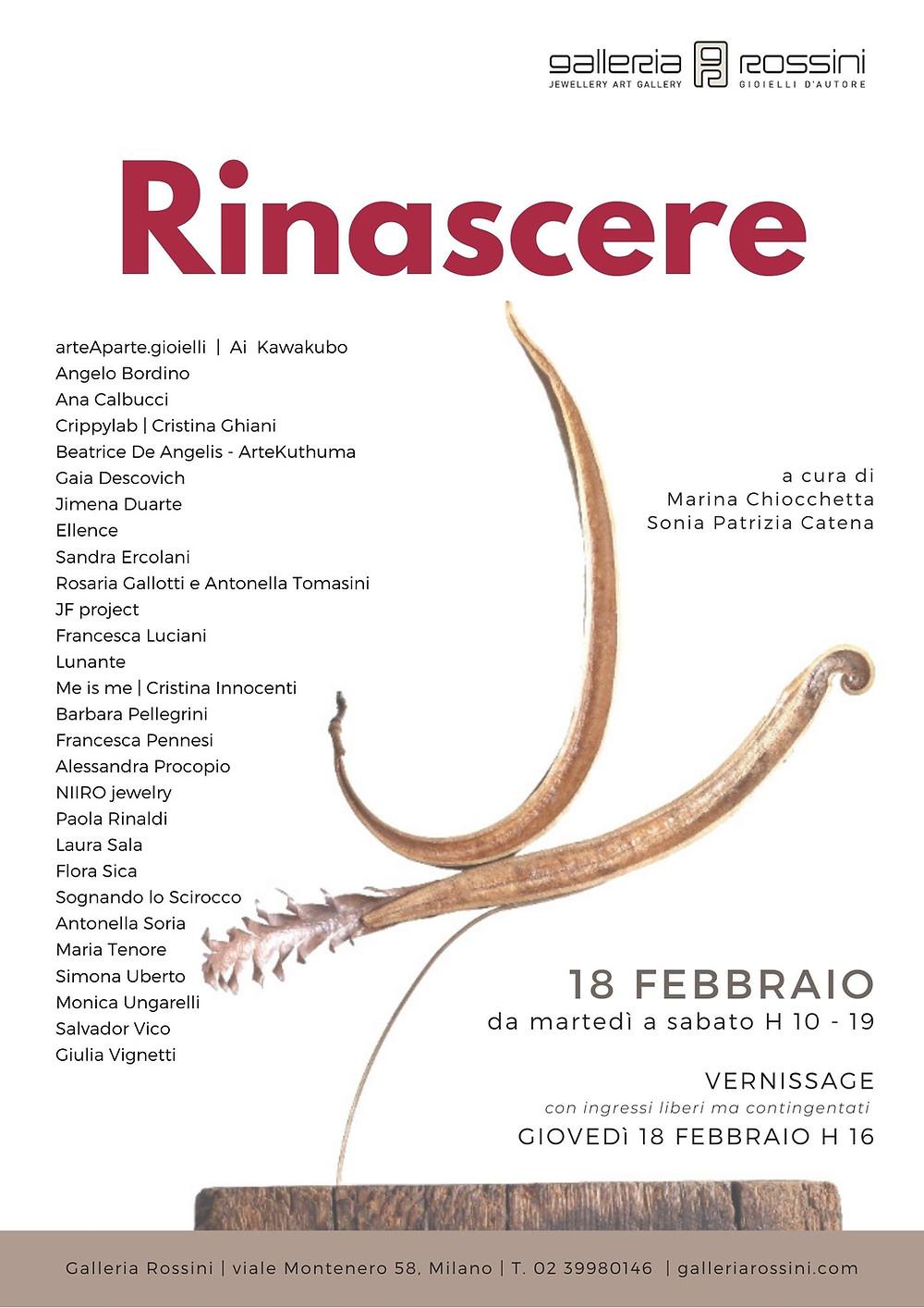 mostra Rinascere Galleria Rossini   Milano