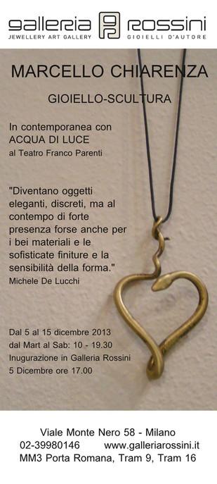 Marcello Chiarenza: gioielli-scultura