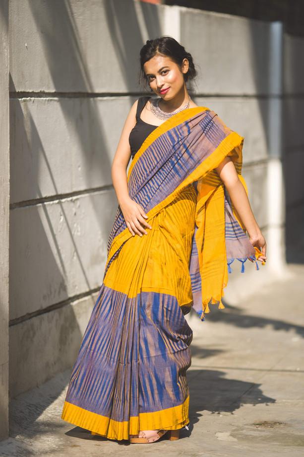 Yellow Cotton Saree.jpg