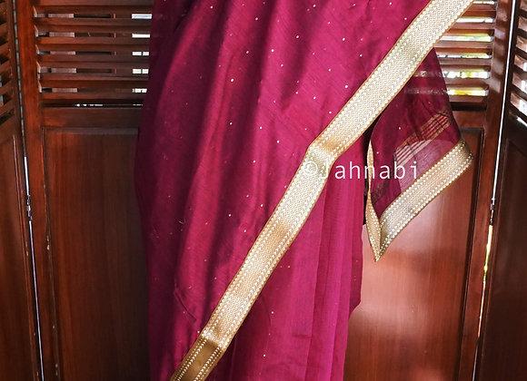 Pink Khadi Silk Saree