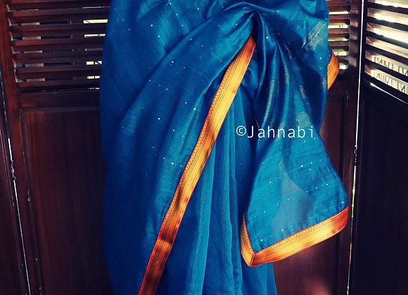 Blue Khadi Silk Saree
