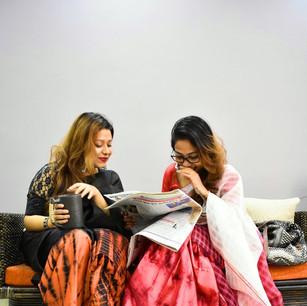 Tie & Dye on Mekhala Chadars