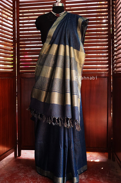 Blue Jacquard Saree