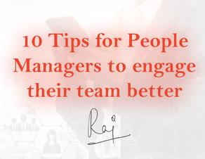 10 Tips for People Managers to engage their team better