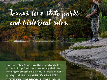 Show your LOVE and #supporttexasparks by voting YES to #prop5onnov5