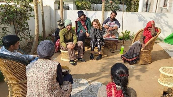 Volunteer at Ahimsagram Community Space in Jaipur
