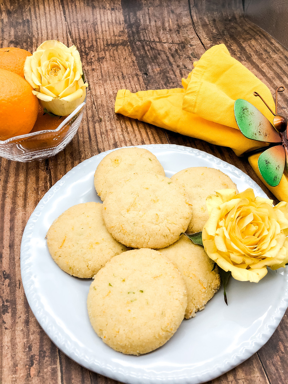 Citrus Cookies inspired by magical realism novel Sweet Canary Jane.