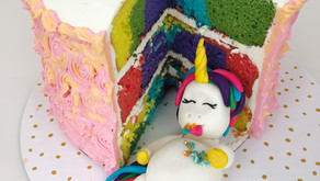"Cooking Through ""The Baker's Man"": Stuffed Unicorn Rainbow Cake"