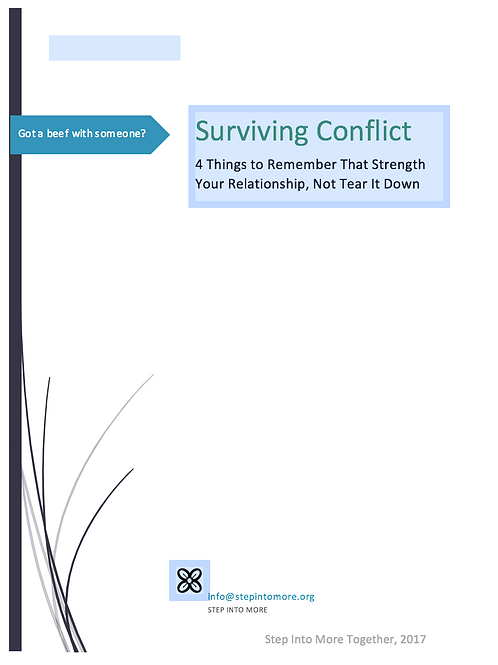 Surviving Conflict - 4 Things to Remember