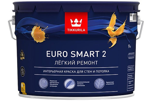 Tikkurila Euro Smart 2 глубокоматовая белая