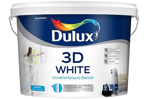 Краска интерьерная Dulux 3D White матовая ослепительно-белая