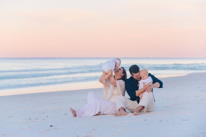 Lauren + Andrew + Twins | Sandestin | Destin FL Photographers