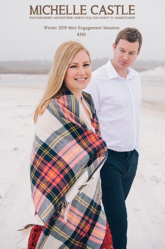 Winter 2019 Engagement Minis | Seaside FL Photographer