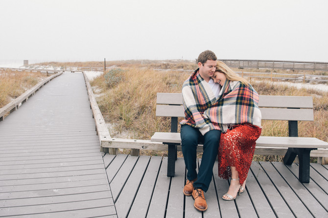Amber + Andy ~a winter engagement session at Grayton Beach, FL