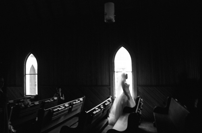 Black+White Fine Art Film | St. Paul's Episcopal Chapel Magnolia Springs, AL