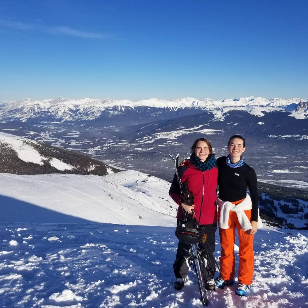 Skiing with my sister