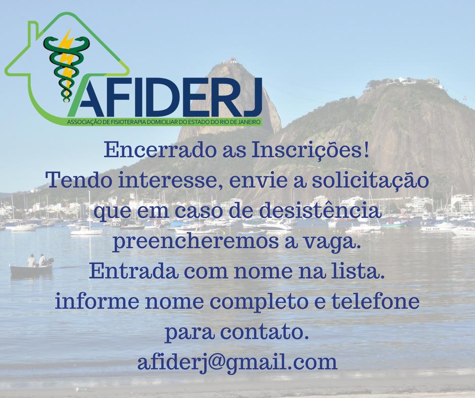 ENCERRADO AS INSCRIÇÕES!  http://www.crefito2.gov.br/…/i-simposio-da-afiderj-2394.html