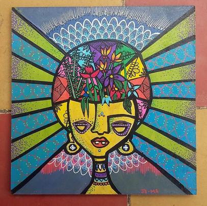 Beautiful minds (Acrylic on board)