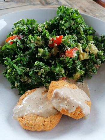 Falafels et tabouleh de kale