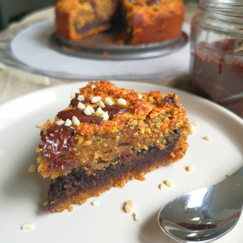 Gâteau cookie à la pâte à tartiner vegan sans gluten