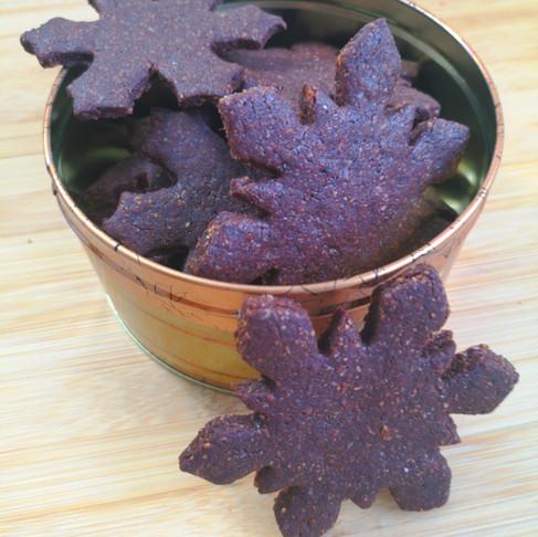 Petits gâteaux de Noël Vegan flocons au chocolat