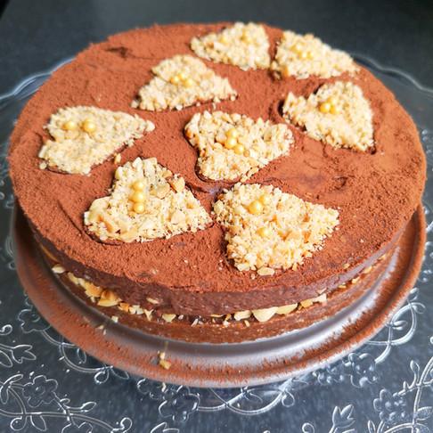 Gâteau cru chocolat cacahouètes vegan sans gluten