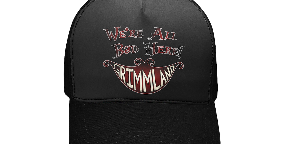 GlamVonGrimm We're All Bad Here Unisex Baseball Cap