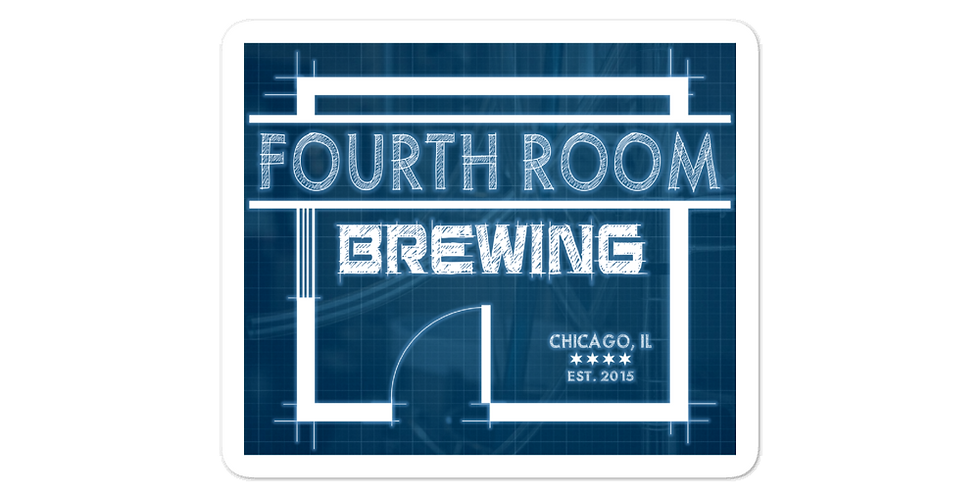 FourthRoomBrewing Logo Bubble-free stickers