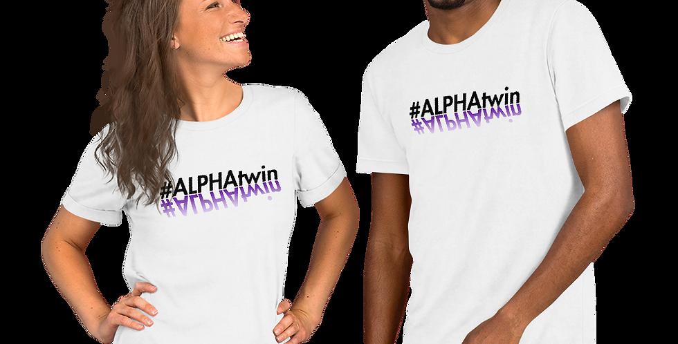 #ALPHATWIN WHITE Short-Sleeve Unisex T-Shirt
