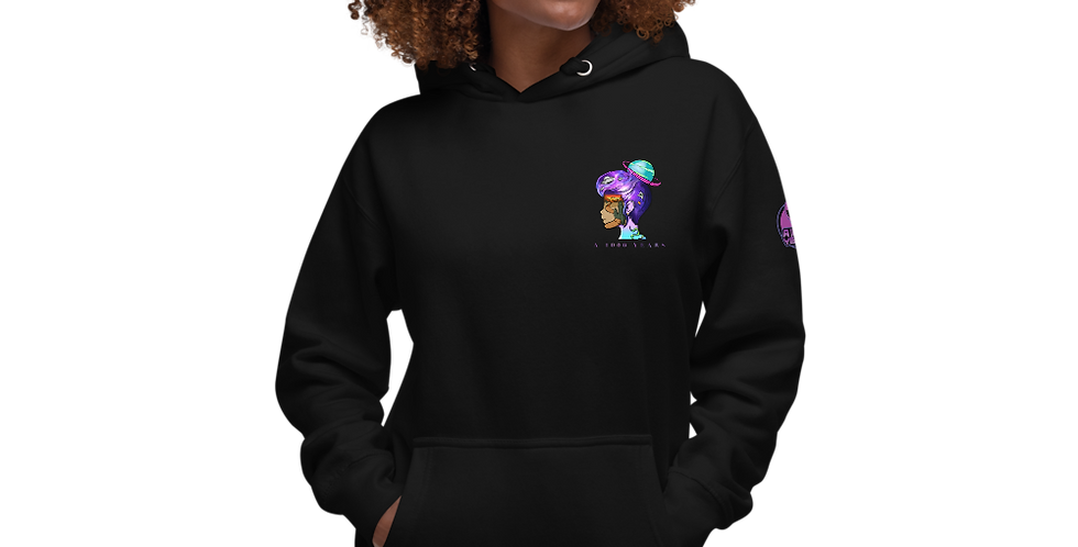 a1000years Galaxy Side View Unisex Hoodie