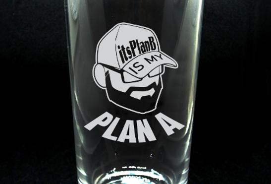ItsPlanB 16 oz Plan A Pint Glass