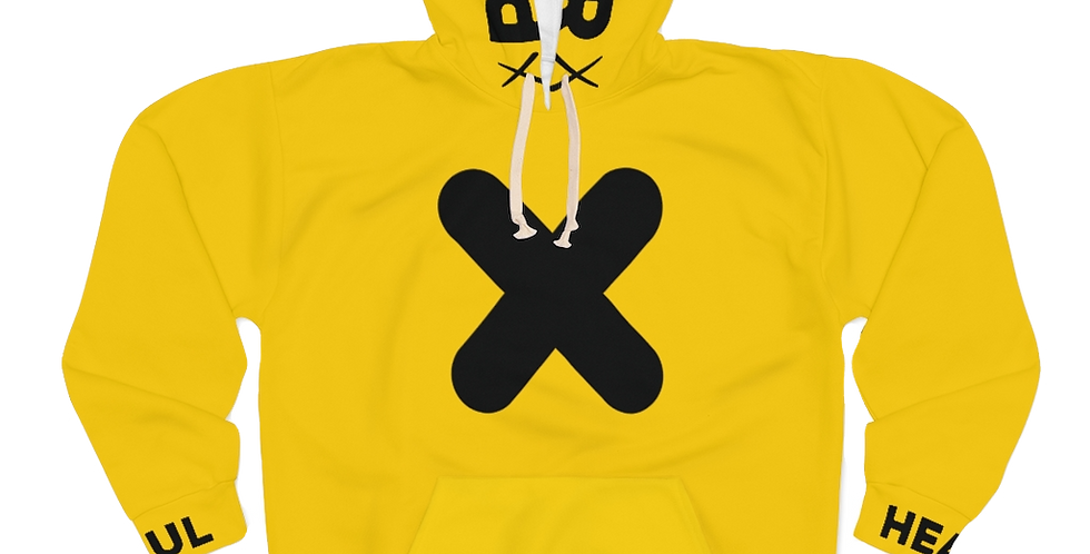 "Hadi ""Protector"" AOP Unisex Pullover Hoodie (Yellow)"