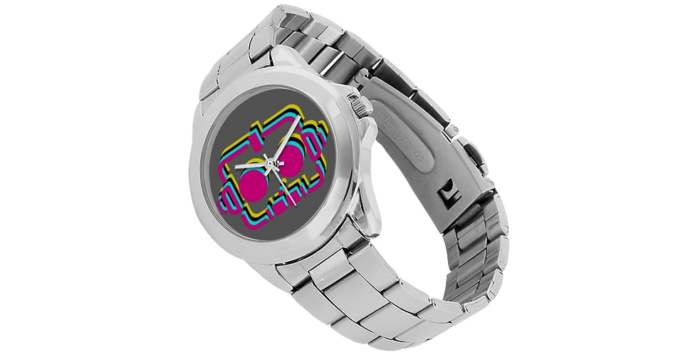RobotGiggles Unisex Stainless Steel Watch