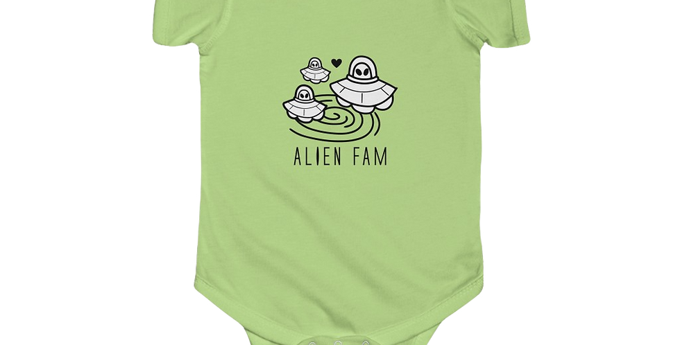 A1000years Alien Fam Infant Onsie
