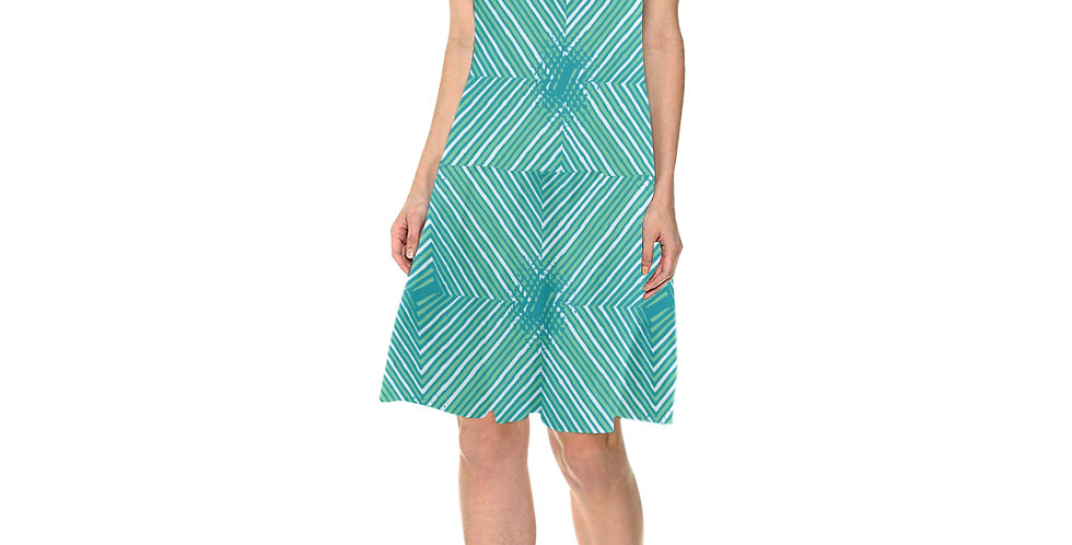 Sleeveless Mermaid-cut Dress