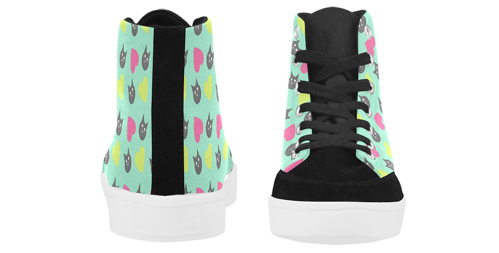 Women's High Top Canvas Boot Style Sneaker
