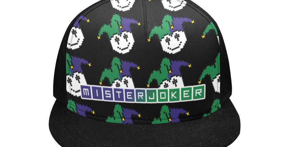 MisterJoker Logo Flat Brim Snapback Hat