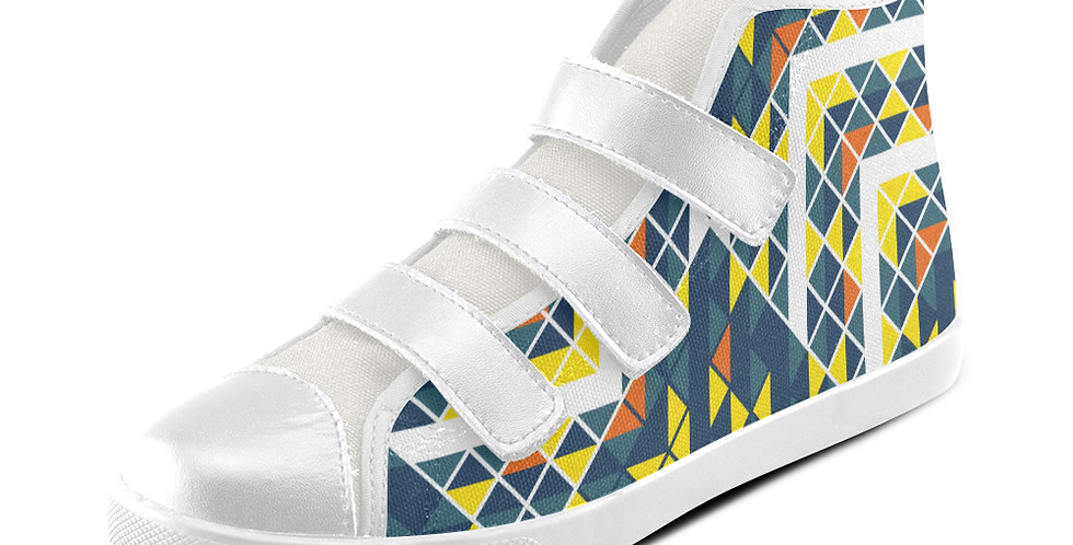 Velcro High Top Canvas Kid's Shoes