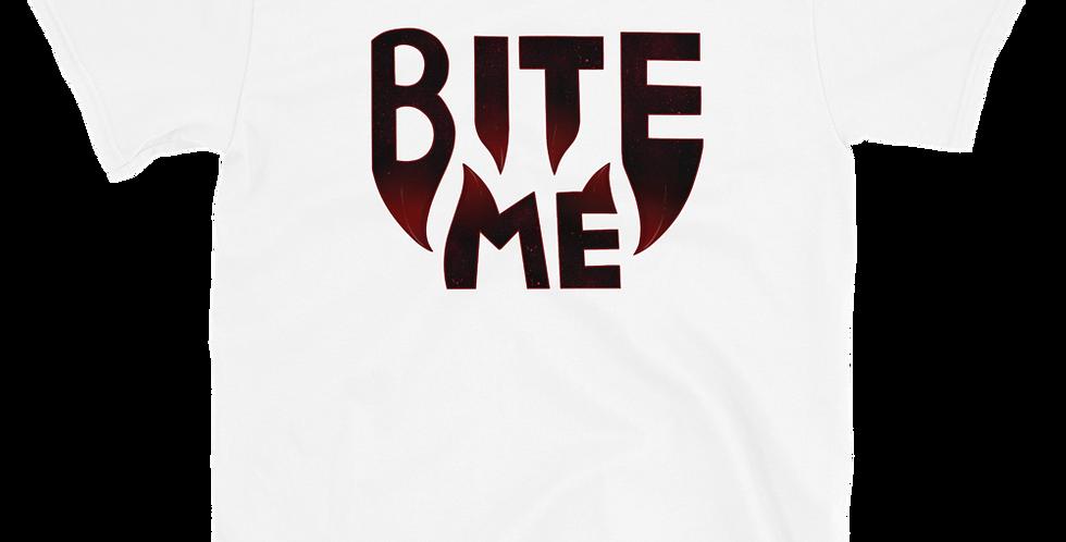 GlamVonGrimm Bite Me White Short-Sleeve Unisex T-Shirt