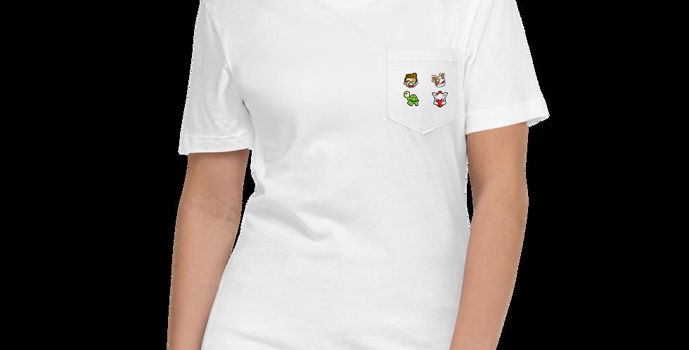 Asikaa Multi-Emote Unisex Pocket T-Shirt